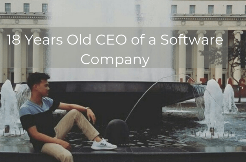 18 Years old CEO of a Software Company